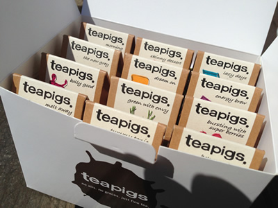 Various teas available in our cafe